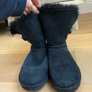 Black Ugg Boots w Diamond Button